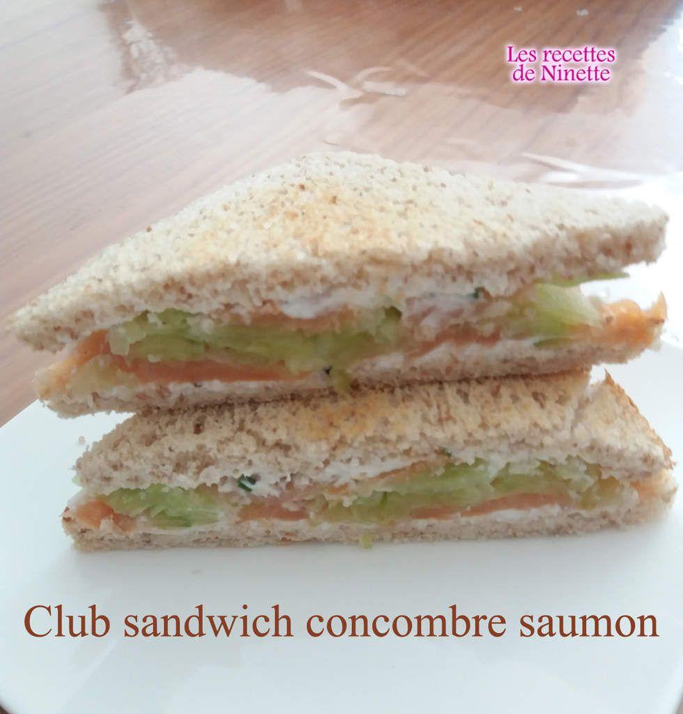 Club sandwich concombre saumon ww