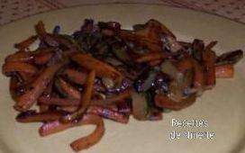 courgettes et carottes sautées à la fleur de sel