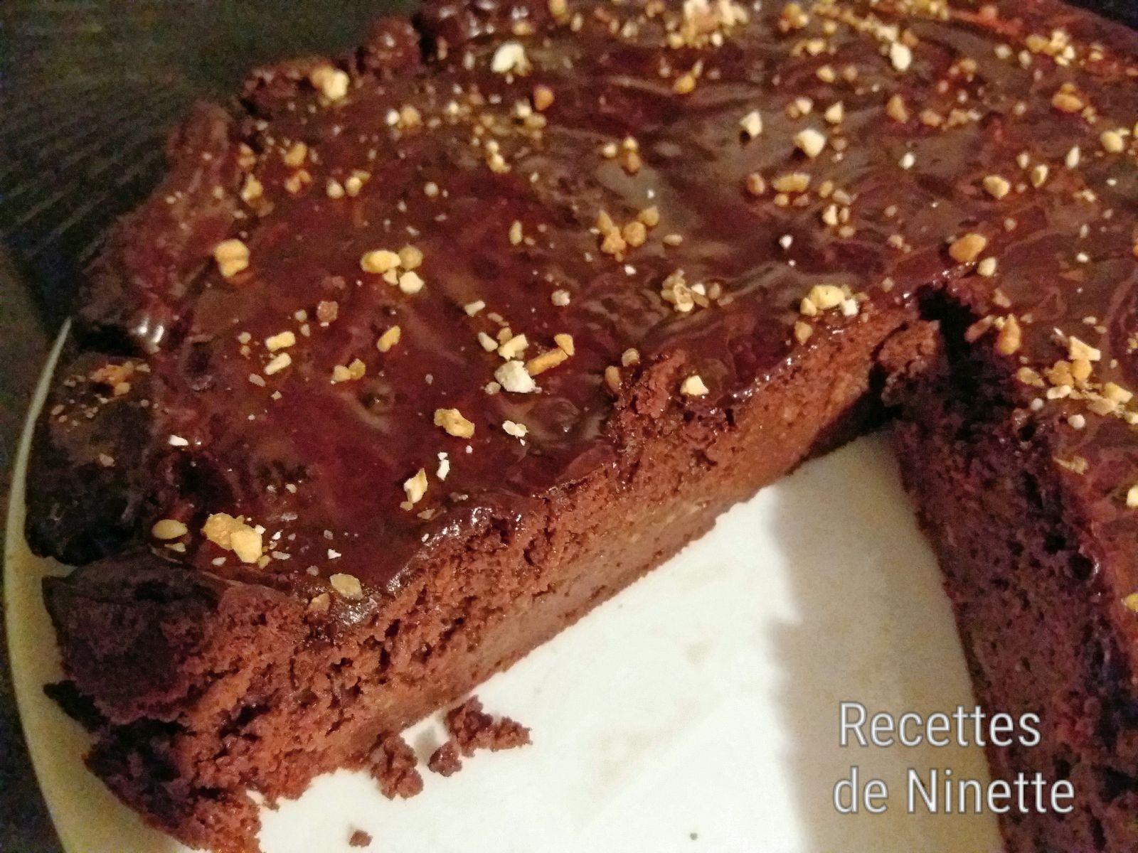 Gâteau allégé au chocolat aux pois chiches WW