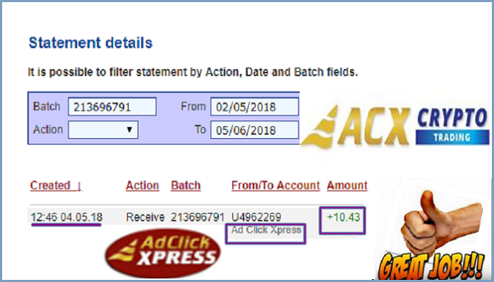 ad click xpress view ads for bitcoins
