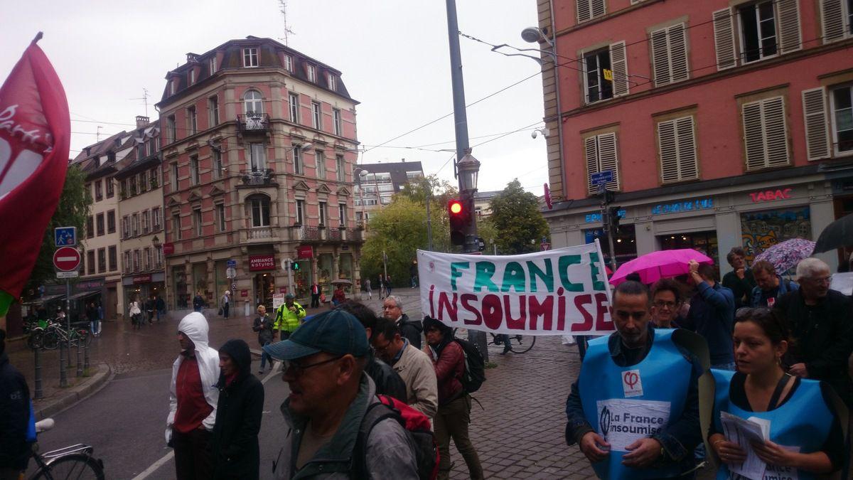 Strasbourg toujours, la France Insoumise en trois points du cortège