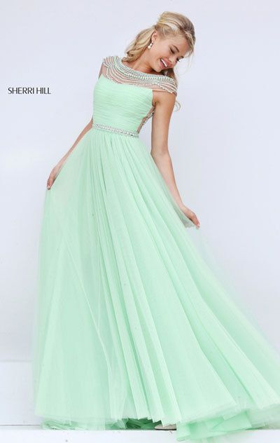 218d2beb8d Sherri Hill 50187 Party Gown For Light Green 2018 - Prom Dresses ...