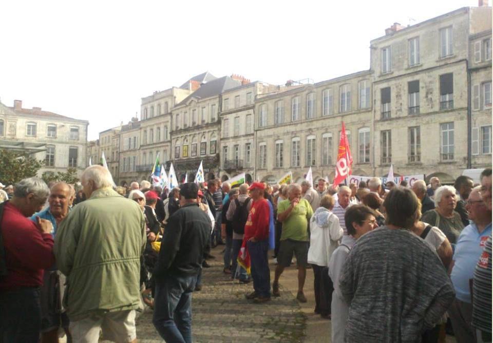Manifestation La Rochelle et Bordeaux retraités 28 septembre 2017