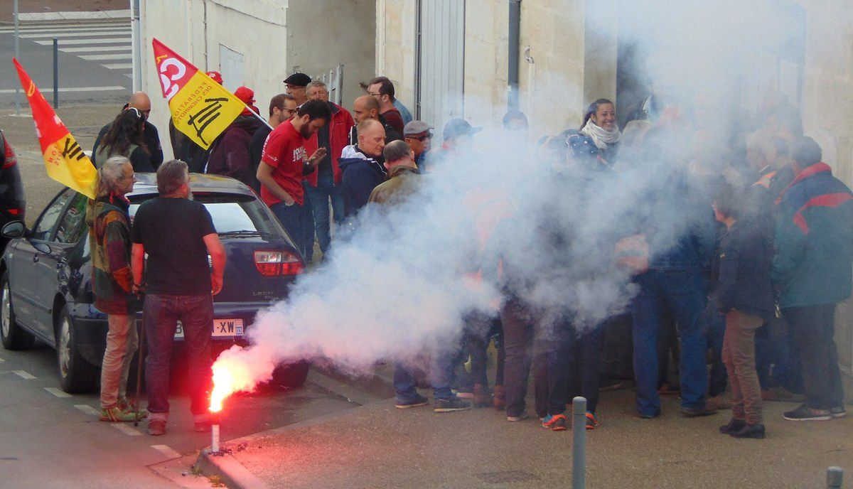 Manifestation cheminots Saintes 28 avril 2018