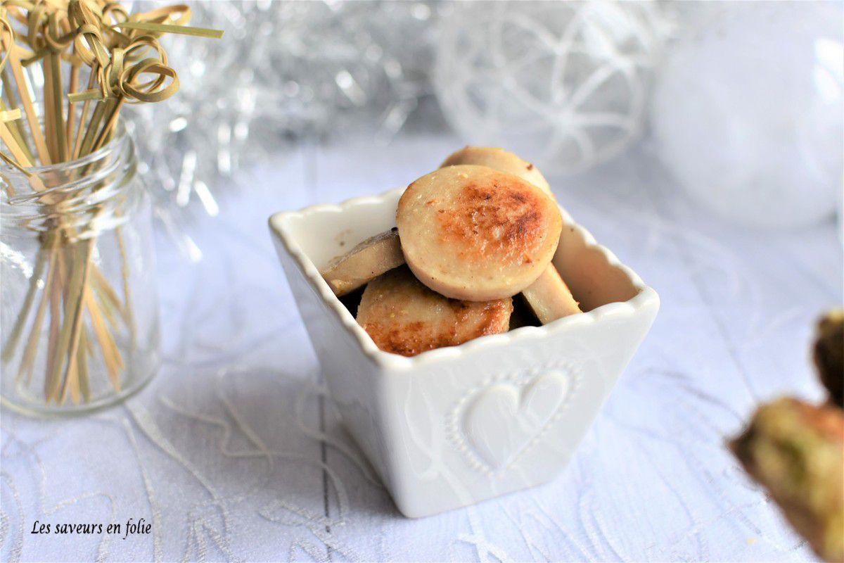 Boudin blanc en panure croquante de noisettes pistaches