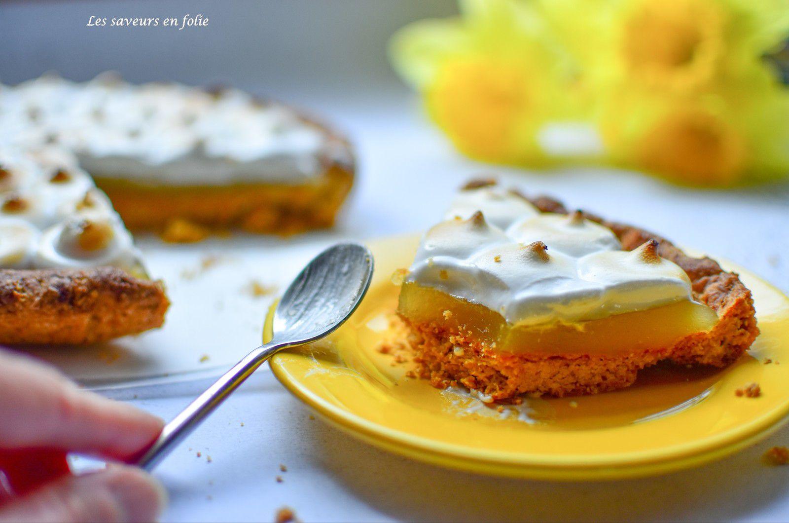 Tarte au citron meringuée végane