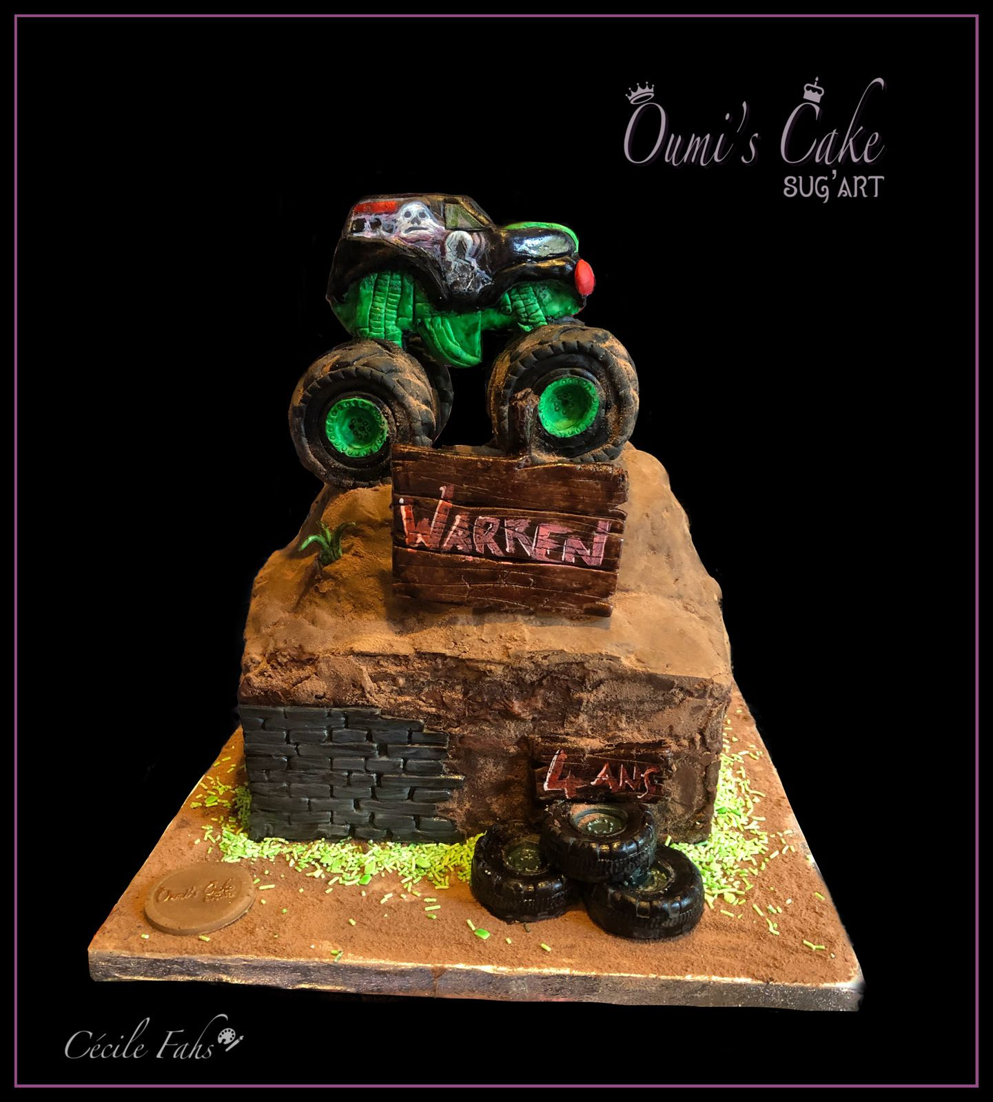 Gâteau Monster Jam