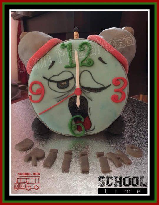 """Gateau réveil, thème """"la rentrée scolaire"""", PAS, colorants alimentaires, rkt et génoise - septembre 2016"""