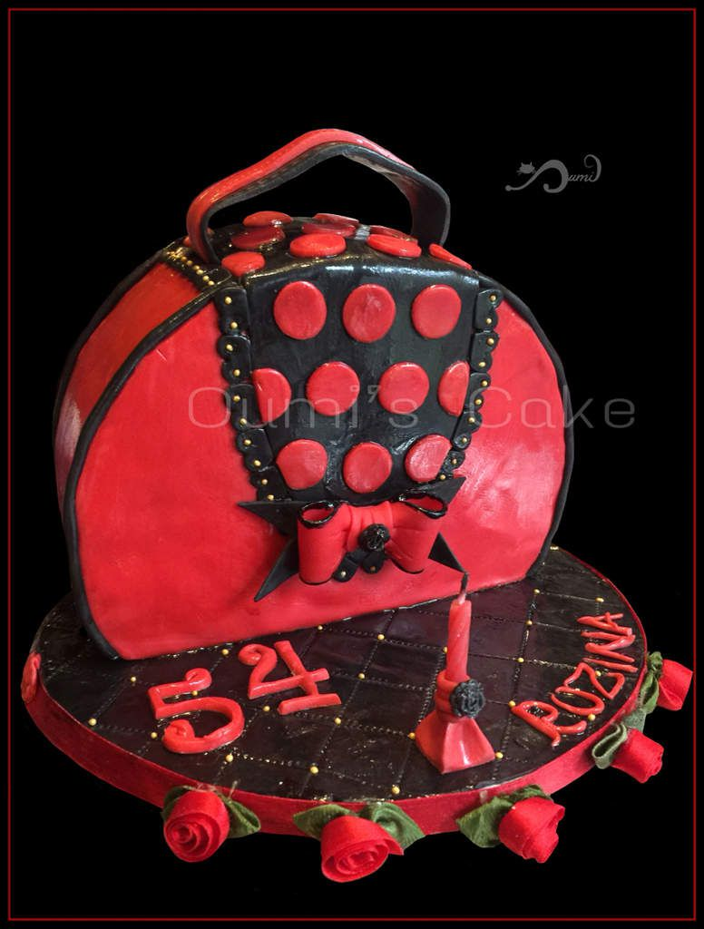Gâteau sac à main - 54 ans de Rozina - happy birthday -