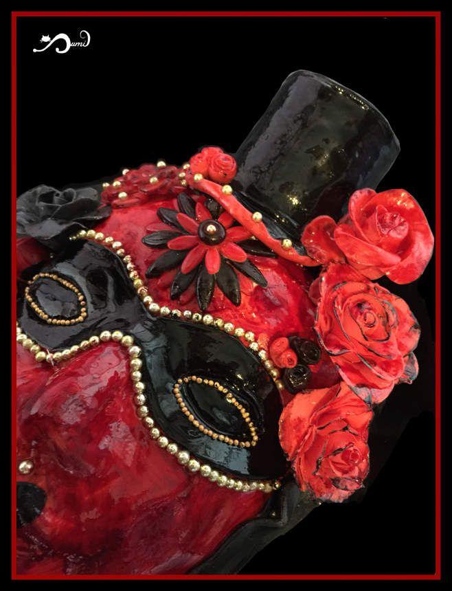 Gateau masque vénitien - entièrement réalisé, modelé et peint à la main - 6/03/17 -