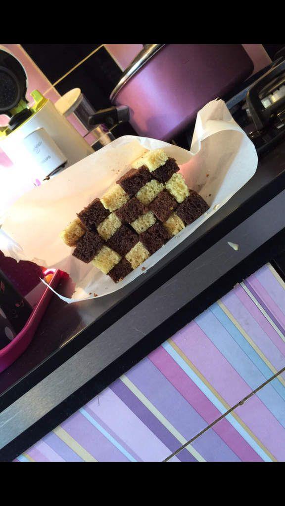 Gâteau damier pour les 10 ans de ma fille Morjane