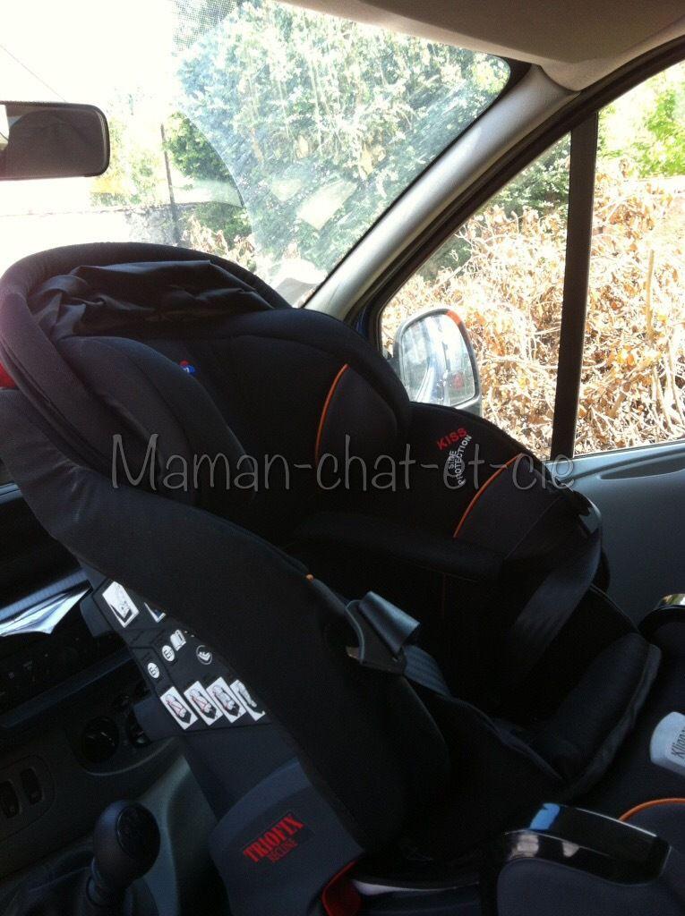 Le siège auto de petit chat : Triofix recline de chez Klippan