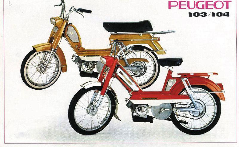 Publicité pour Peugeot 103 et 104
