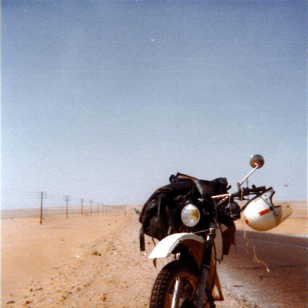Yamaha 500XT - Route du désert entre Alexandrie et Le Caire - 1980