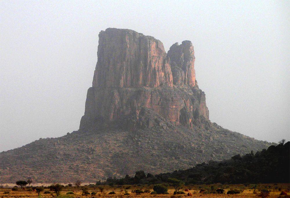 Paysages en arrivant dans les monts (Mars 2007)