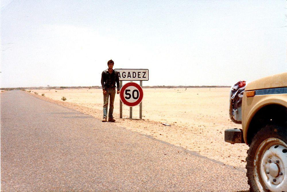 A l'entrée d'Agadez. (Photos juillet aout 81)