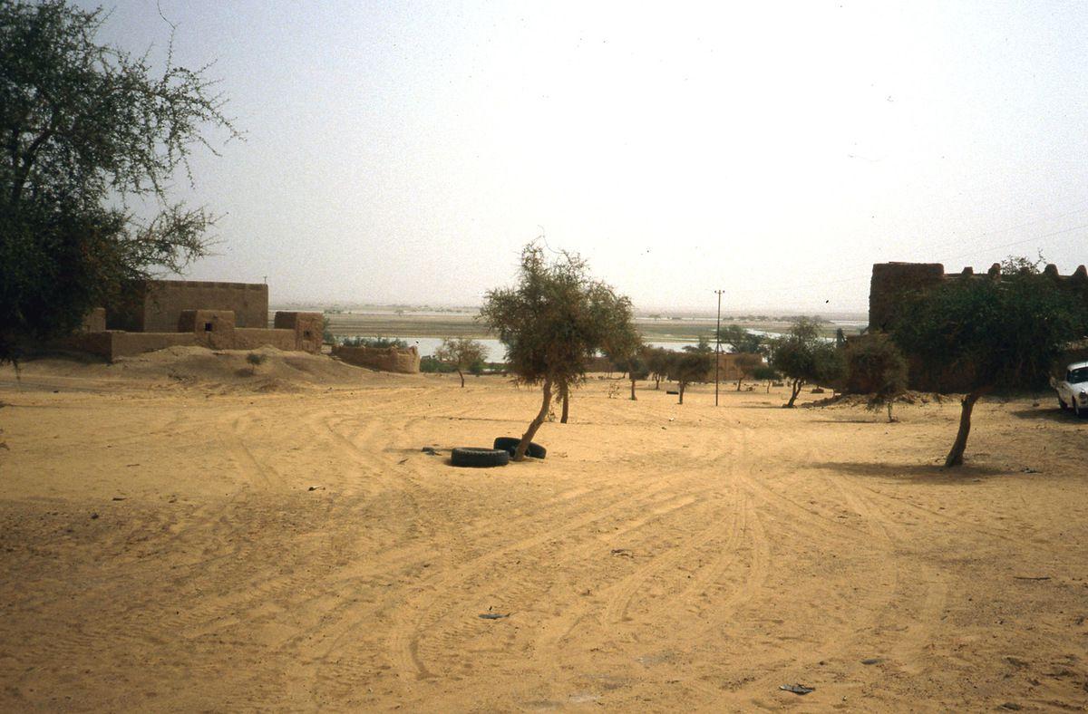 En sortant de Gao, un village au bord du Niger