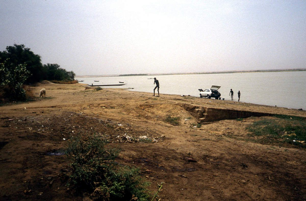 Le fleuve Niger à Gao