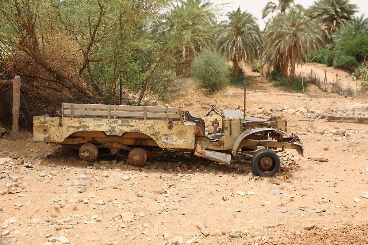Dodge WC6 dans le désert Mauritanien