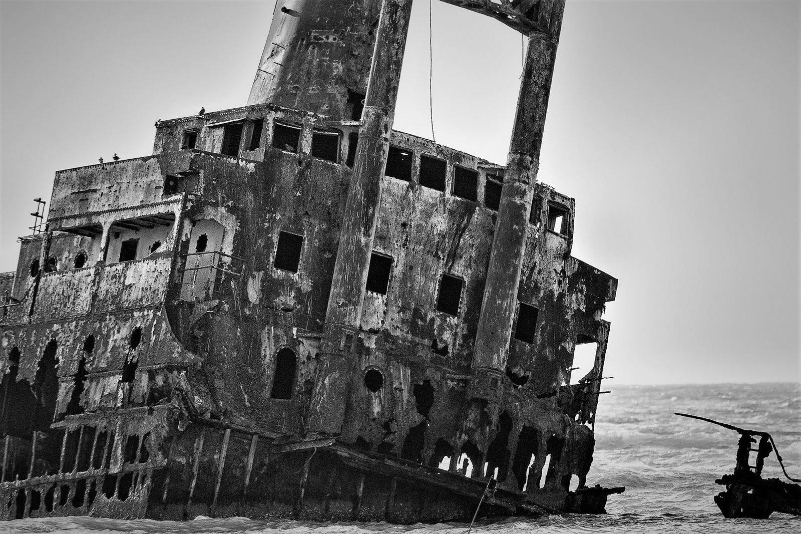 Bateau échoué au Saloum - Sénégal