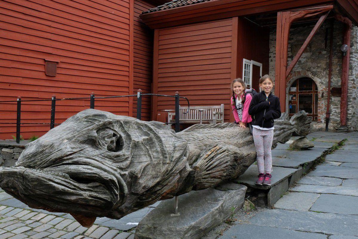 Quartier de Bryggen, ancien quartier marchand, négoce de poisson