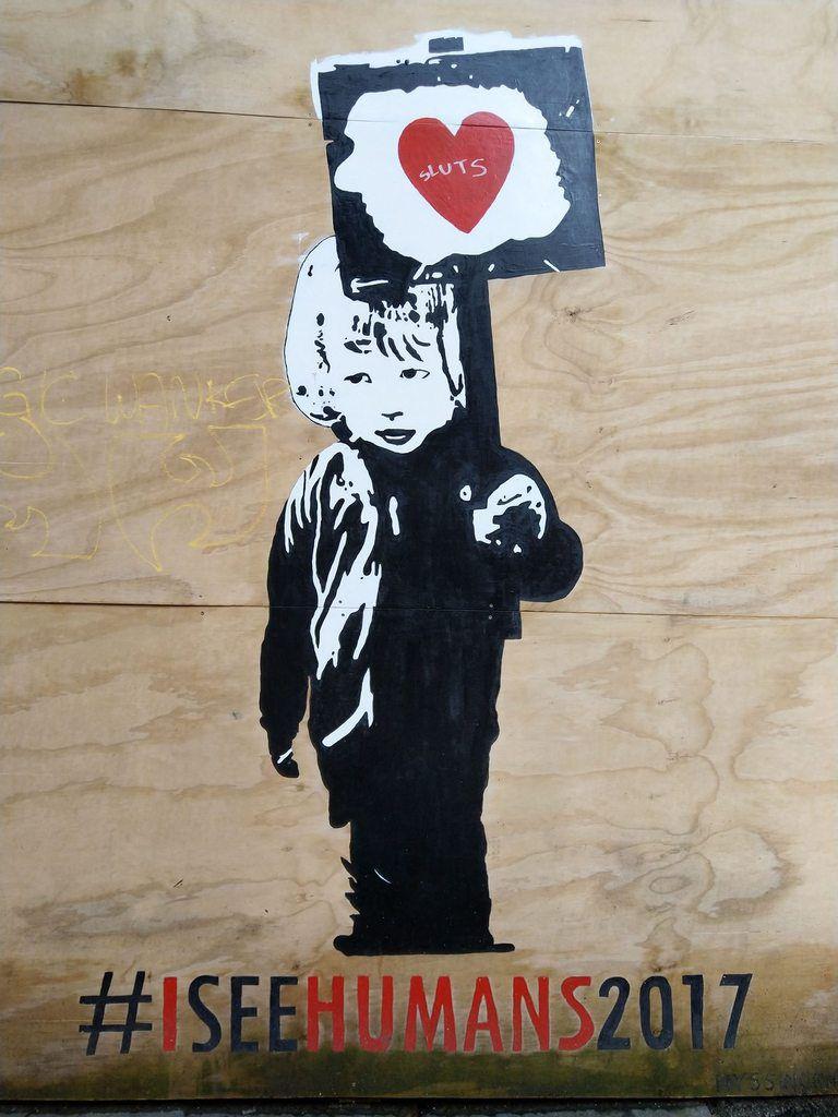 A la décourverte de quelques ouevres de street art dans la ville de Bergen...
