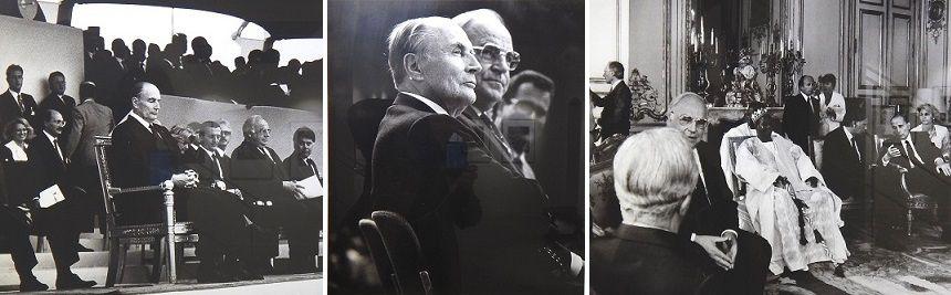 Le président Mitterrand et le chancelier Kohl