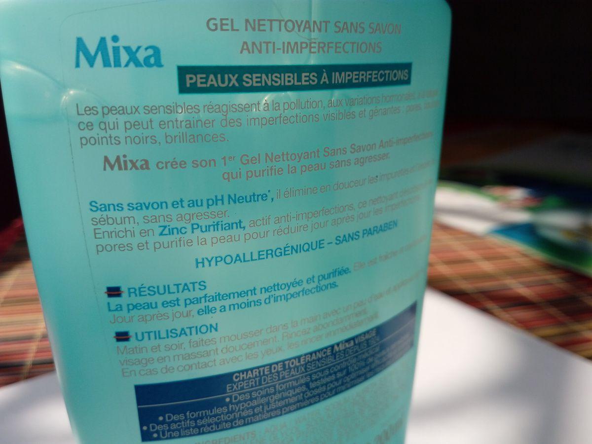 Description Mixa gel nettoyant anti imperfections