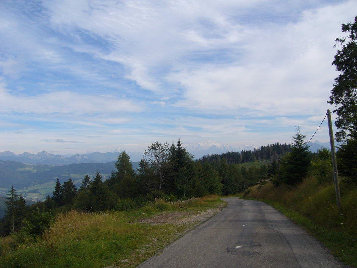Une dernière vue sur les Alpes depuis la route du retour