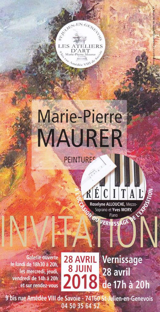 EXPOSITION MARIE-PIERRE MAURER