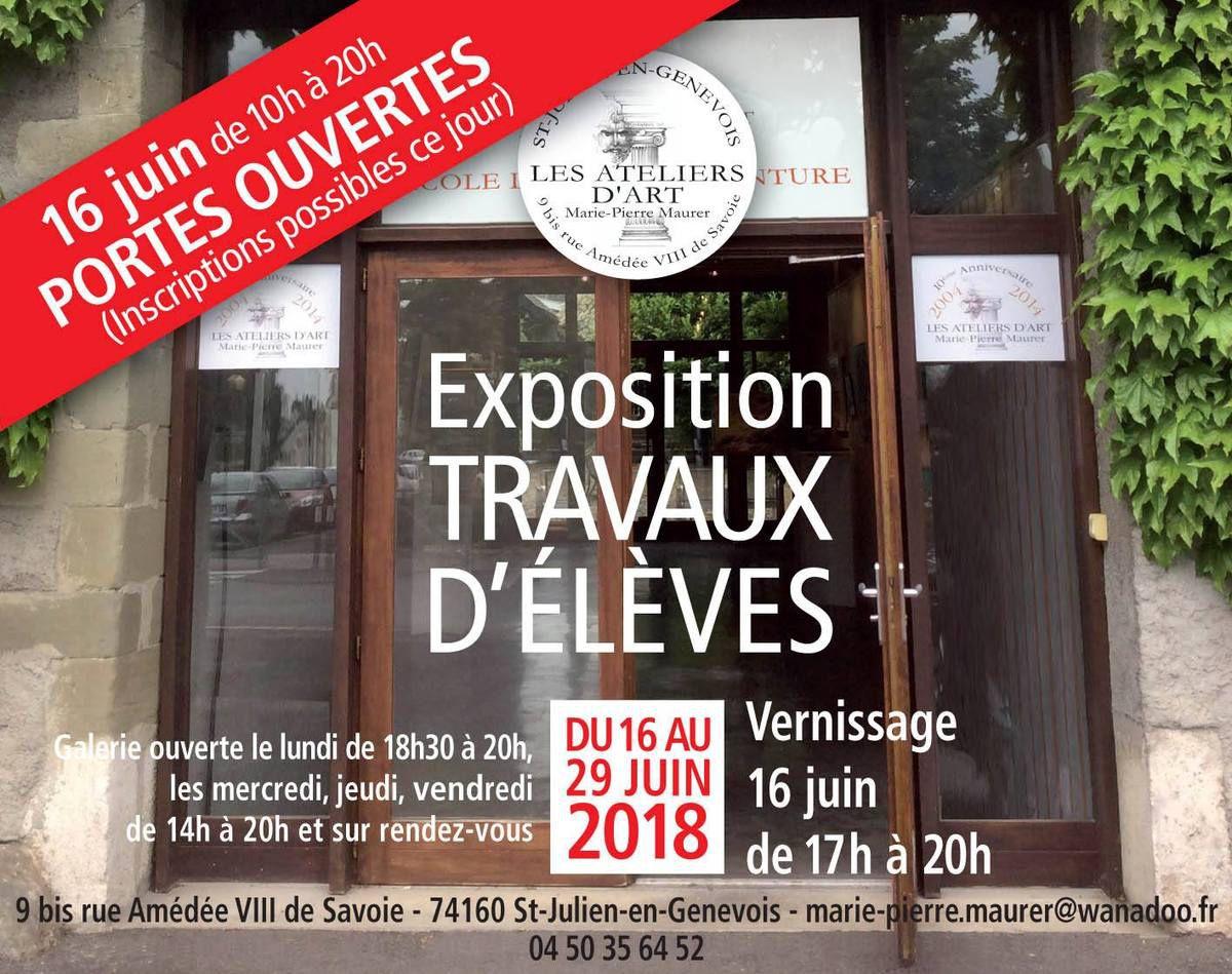 EXPOSITION TRAVAUX D'ÉLÈVES AUX ATELIERS D'ART MARIE-PIERRE MAURER