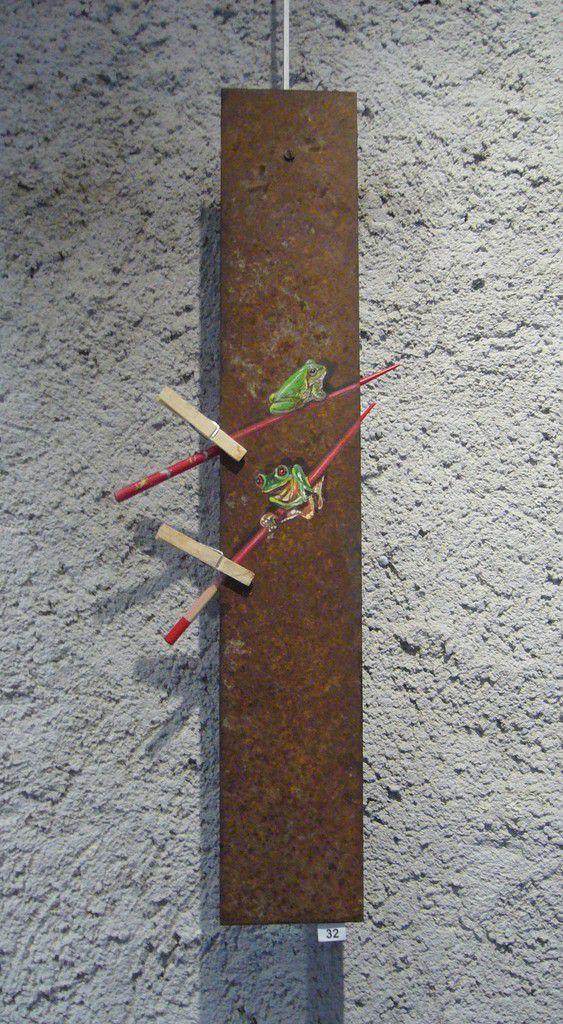 Les sans sushis,  Acrylique sur métal
