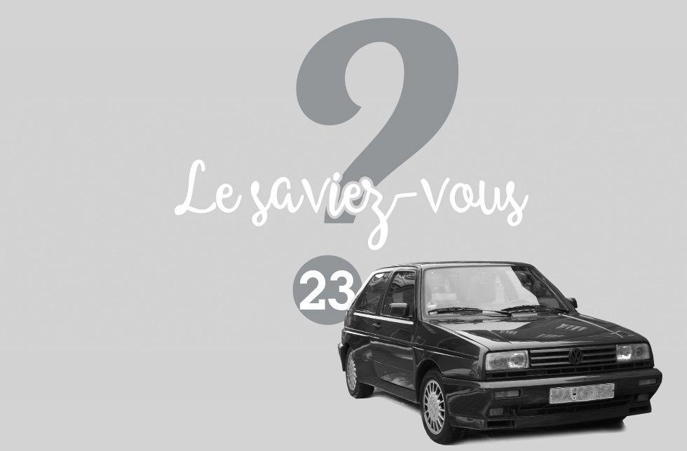 Le saviez-vous ? #23