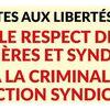 Pour les libertés ouvrières et syndicales à PSA