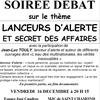 La coordination culturelle de St Chamond organise ce soir une soirée débat lanceurs d'alerte et secrets d'affaires