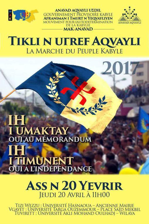 Le MAK-Anavad prépare des marches grandioses pour l'indépendance en Kabylie et en Europe. KDirect - Actualité