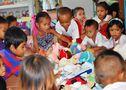 REMISE DES CADEAUX OFFERTS  PAR LES ENFANTS DES COMMUNES DE BOUVESSE ET MONTALIEU