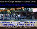 Playlist Juke Boxe du Pique nique au Barail ranch (17 Saint Sauvant) - en Juillet et Aout 2017