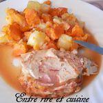 Rôti de dinde façon Orloff au fromage à raclette
