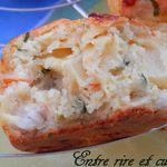 Muffins salés surimi, ananas, persil
