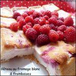 Gâteau au fromage blanc aux framboises