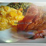 Jambon à L'os grillé au BBQ & sa Purée de Potiron
