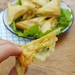 Samoussas à la courgette et au fromage râpé vegan