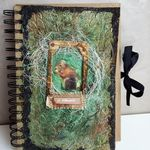 Art Journal Page with Texture and Lindy's Stamp Gang Products