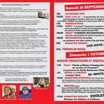 Programme complet de la fête de l'Huma 65