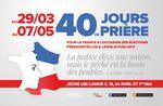 """""""40 jours de prière pour la France"""""""