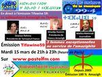 Emission Tifawine59, mardi 15 mars : Le militantisme Amazigh au féminin