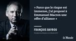 Chez les électeurs qui se disent centristes, on salue plutôt positivement l'alliance Bayrou-Macron