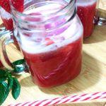 Jus de fraises simple et frais