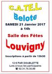 CONCOURS DE BELOTE DU 21 JANVIER 2017